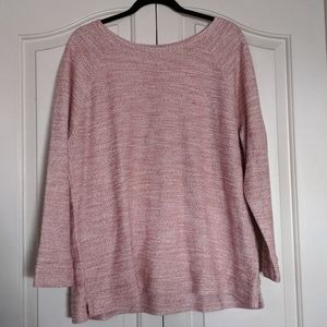 Old Navy Pink, White, and Gold sweater